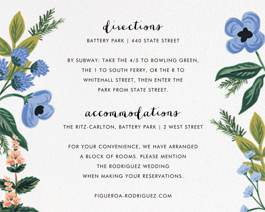 August Herbarium (Invitation) - Rifle Paper Co. - All - insert front
