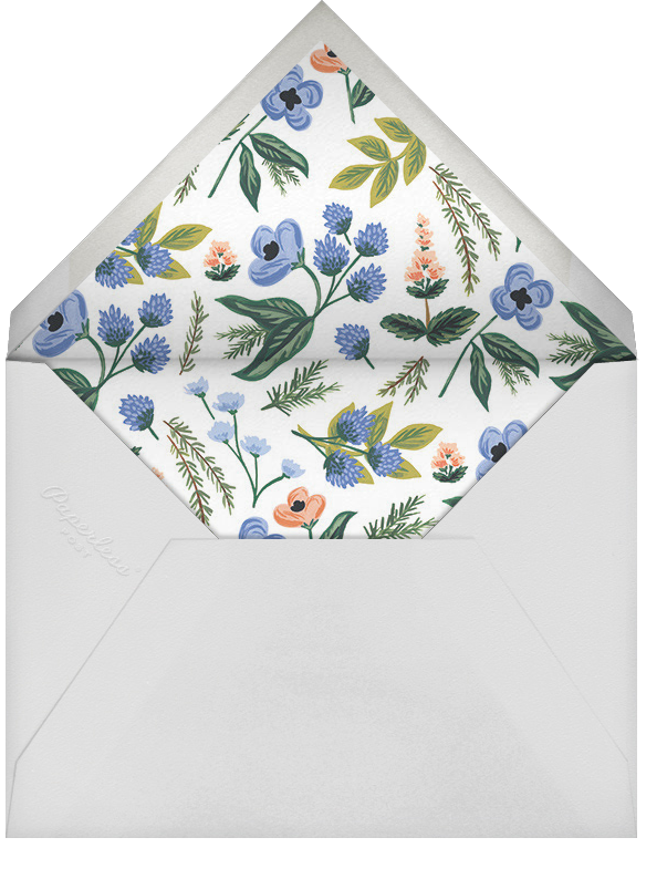 August Herbarium (Stationery) - Rifle Paper Co. - Personalized stationery - envelope back