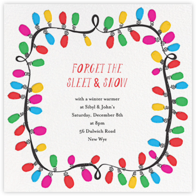 This Line is Tangled - Mr. Boddington's Studio - Holiday invitations