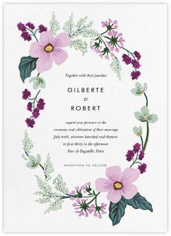 January Herbarium (Invitation) - Rifle Paper Co. -