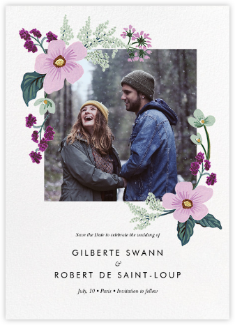 January Herbarium (Photo Save the Date) - Rifle Paper Co. - Rifle Paper Co. Wedding