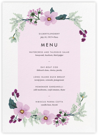 January Herbarium (Menu) - Rifle Paper Co. - Wedding menus and programs - available in paper