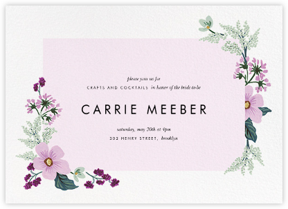January Herbarium (Horizontal Invitation) - Rifle Paper Co. - Bridal shower invitations