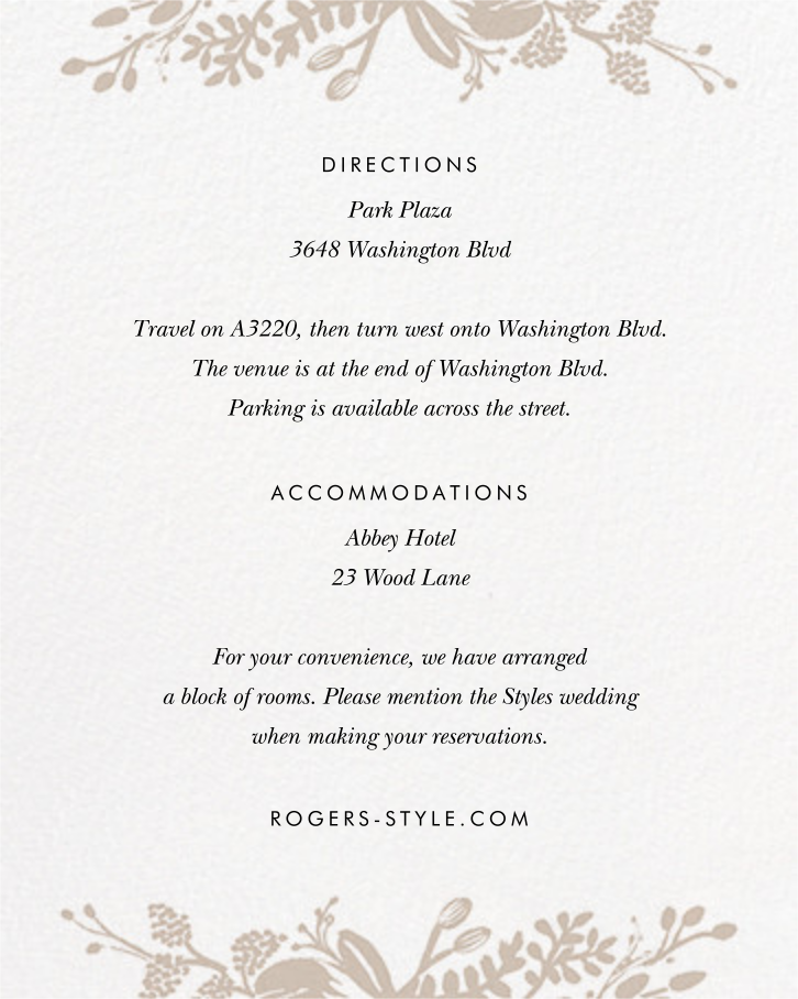 Floral Silhouette (Invitation) - White/Rose Gold - Rifle Paper Co. - All - insert front