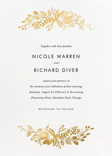 Rifle Paper Co wedding online at Paperless Post