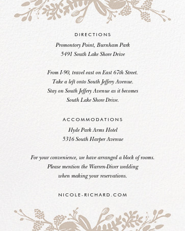 Floral Silhouette (Invitation) - White/Gold - Rifle Paper Co. - All - insert front