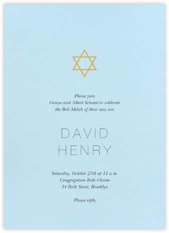 Guiding Star - Blue/Millet - Paperless Post - Bris and baby naming invitations
