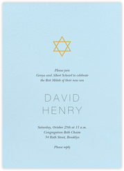 Bris and baby naming invitations - online at Paperless Post