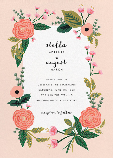 September Herbarium (Invitation) - Meringue - Rifle Paper Co. - Rifle Paper Co. Wedding