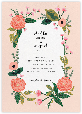 September Herbarium (Invitation) - Meringue - Rifle Paper Co. - Wedding invitations