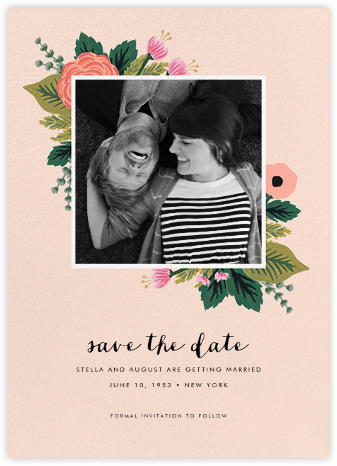 September Herbarium (Photo Save the Date) - Meringue - Rifle Paper Co. - Photo save the dates