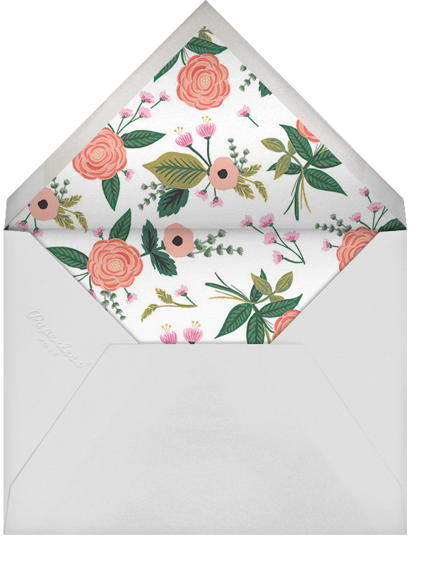 September Herbarium (Stationery) - Meringue - Rifle Paper Co. - Personalized stationery - envelope back