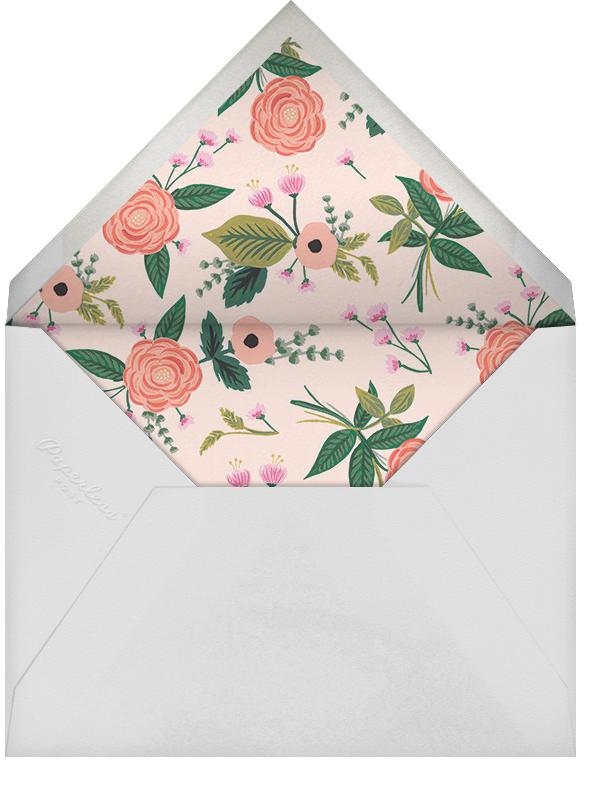 September Herbarium (Stationery) - Merlot - Rifle Paper Co. - Personalized stationery - envelope back
