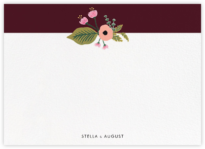 September Herbarium (Stationery) - Merlot - Rifle Paper Co. - Personalized stationery