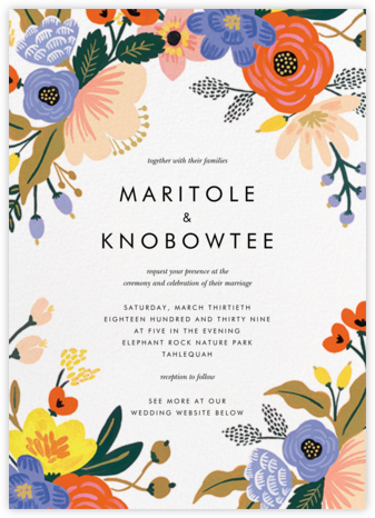 Vivid Florals (Invitation) - Rifle Paper Co. -