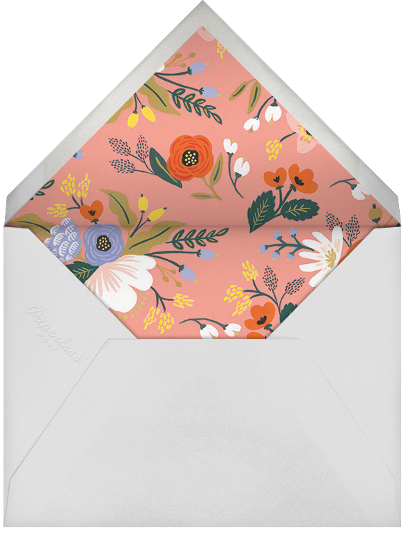 Vivid Florals (Photo Save the Date) - Rifle Paper Co. - Photo  - envelope back