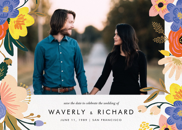 Vivid Florals (Photo Save the Date) - Rifle Paper Co. - Rifle Paper Co. Wedding