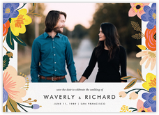 Vivid Florals (Photo Save the Date)