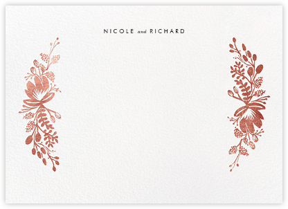 Floral Silhouette (Stationery) - Rose Gold - Rifle Paper Co. - Personalized Stationery