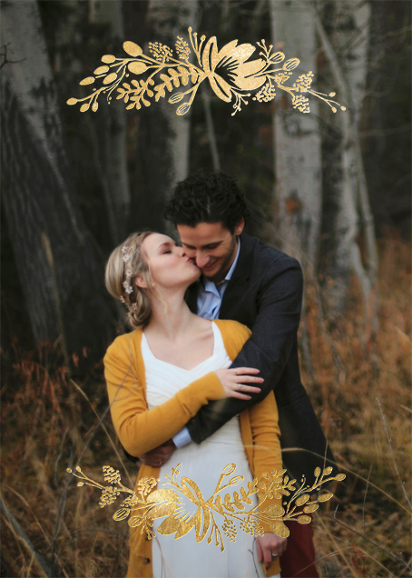 Floral Silhouette (Full Photo) - Gold - Rifle Paper Co. - Rifle Paper Co. Wedding