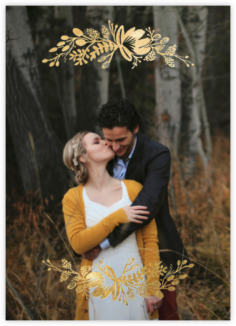 Floral Silhouette (Full Photo) - Gold - Rifle Paper Co. - Wedding Invitations