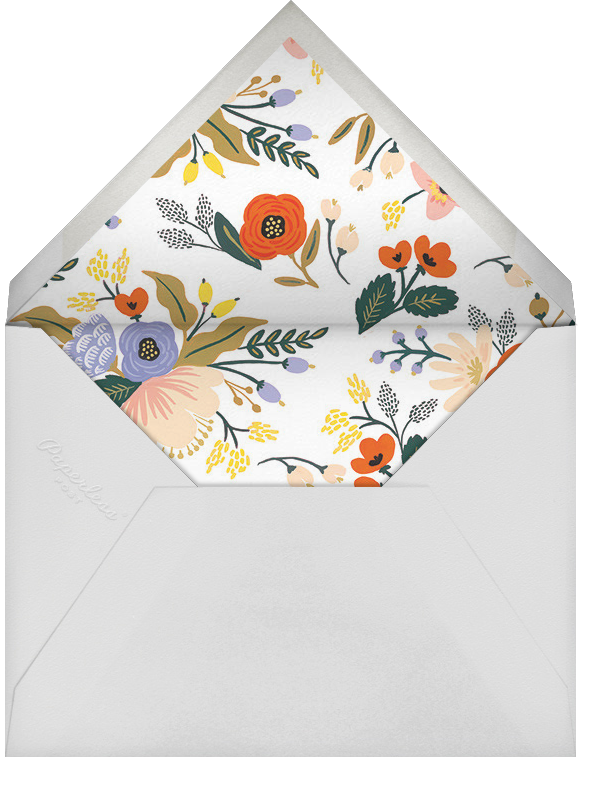 Vivid Blooms - Rifle Paper Co. - Printable invitations - envelope back