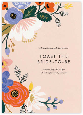 Vivid Blooms - Rifle Paper Co. - Printable Invitations