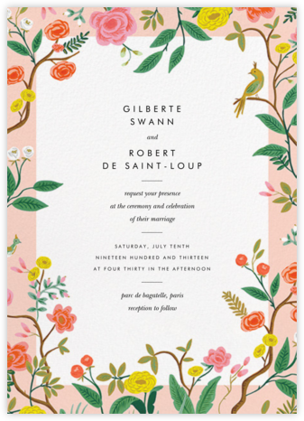 Shanghai Garden (Invitation) - Rifle Paper Co. - Destination wedding invitations