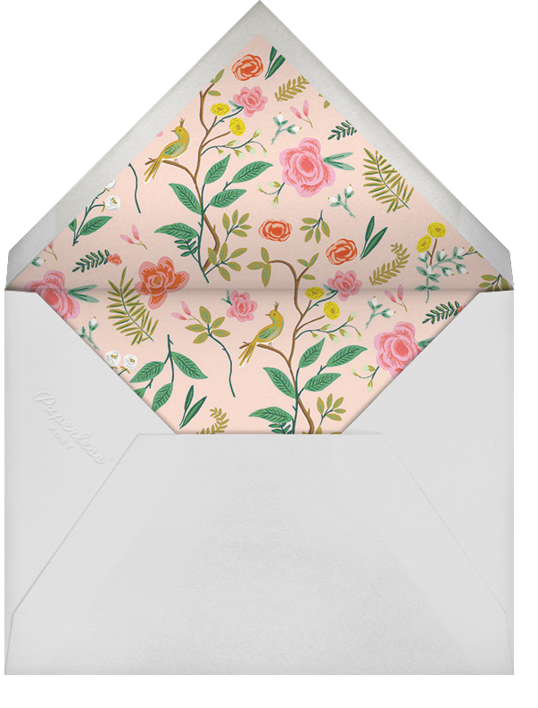 Shanghai Garden (Photo Save the Date) - Rifle Paper Co. - Photo  - envelope back