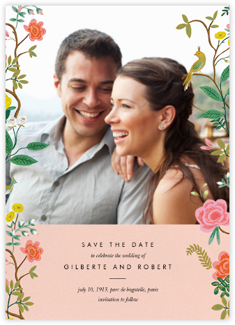 Shanghai Garden (Photo Save the Date) - Rifle Paper Co. - Photo save the dates