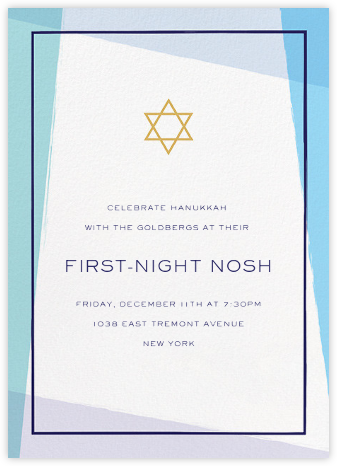 Tekhelet - Millet - Paperless Post - Hanukkah Invitations