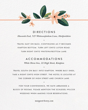 November Herbarium (Invitation) - Rifle Paper Co. - All - insert front