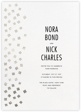 Fette - Silver/White - Kelly Wearstler - Wedding Invitations