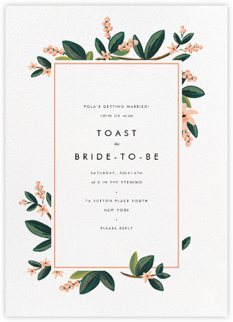 november herbarium - Wedding Shower Invites