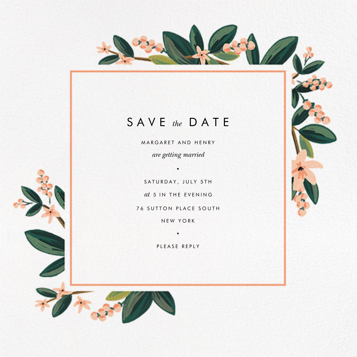 November Herbarium (Save the Date) - Rifle Paper Co. - Save the dates