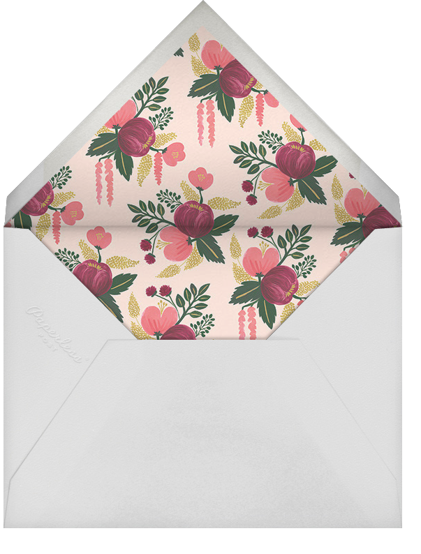 Raspberry Floral (Save the Date) - Gold - Rifle Paper Co. - Destination - envelope back