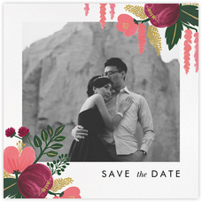 Raspberry Floral (Photo Save the Date)