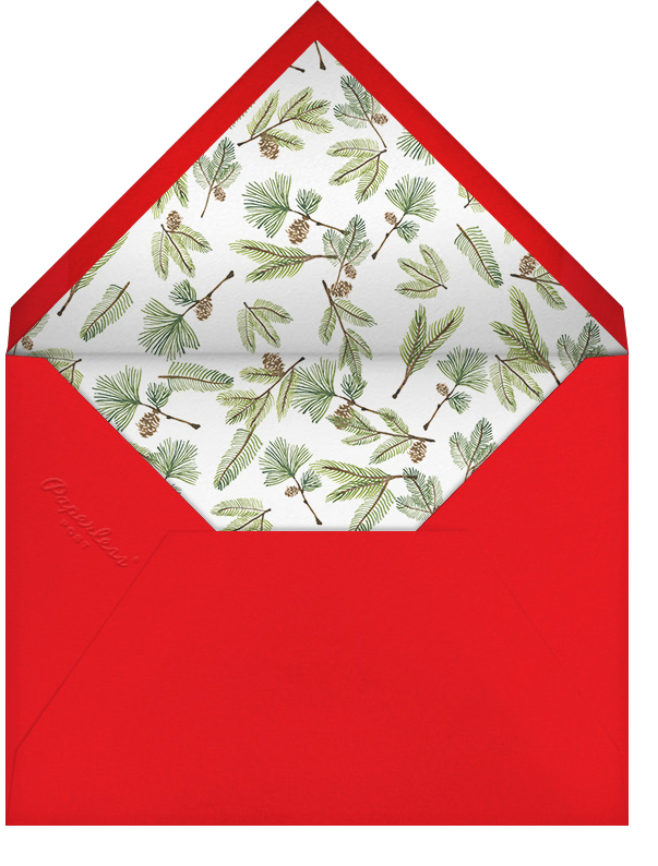 Delicate Firs (Tall) - Paperless Post - Christmas party - envelope back