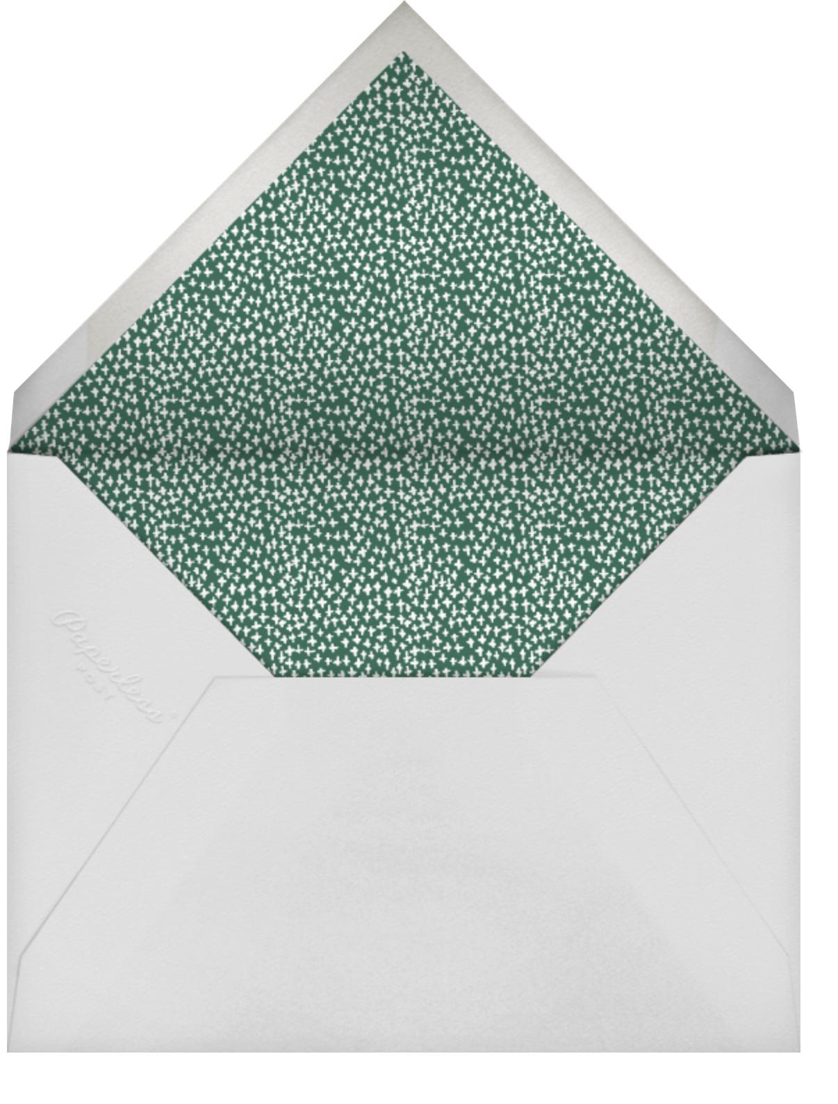Holly on the Banister (Square Photo) - Red - Mr. Boddington's Studio - Holiday Favorites - envelope back