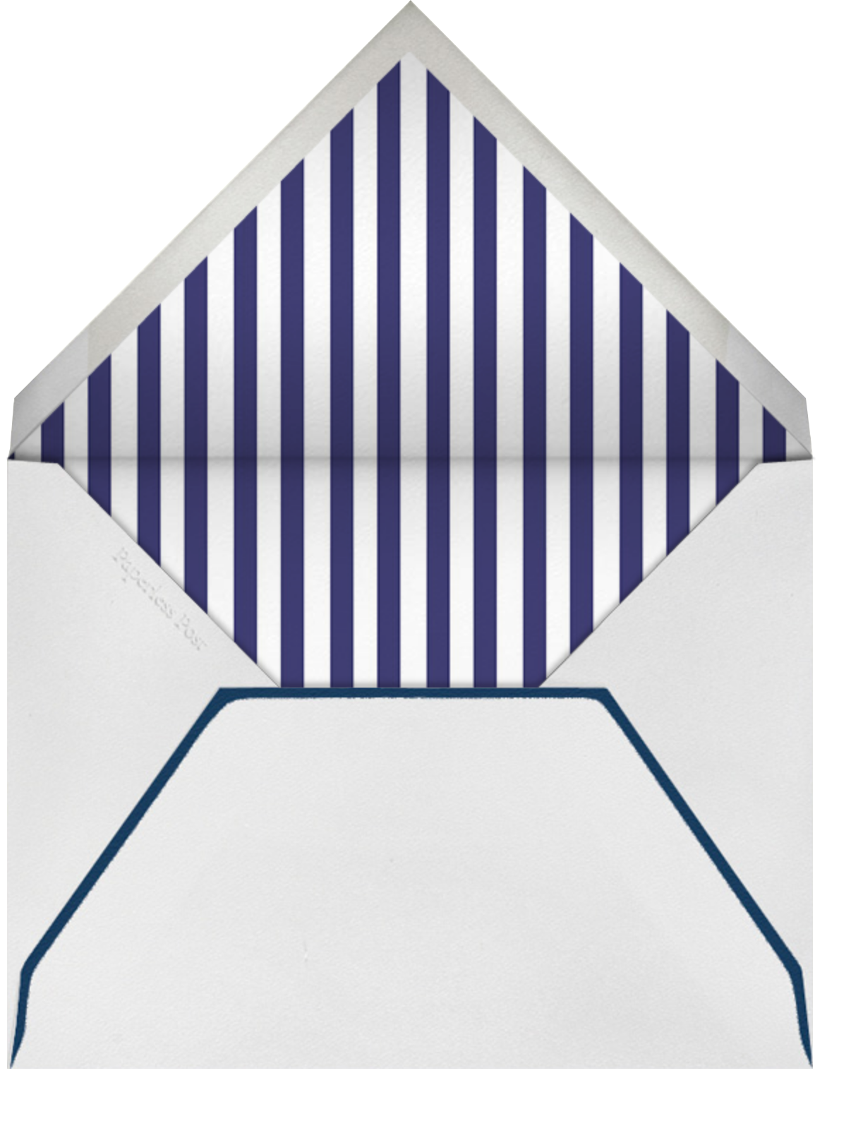 Mr. Porter's Ribbons - Navy - Mr. Boddington's Studio - Summer entertaining - envelope back