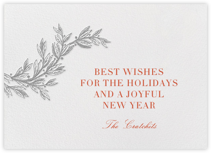 Winter Sprig - Chinchilla - Paperless Post - Holiday Cards
