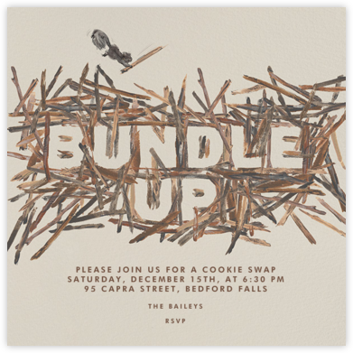 Bundle Up - Paperless Post - Winter Party Invitations