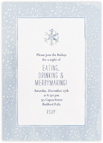 The Blizzard - Paperless Post - Winter Party Invitations