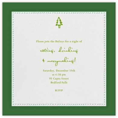 Crown Devon - Forest Green and Celadon - Paperless Post - Invitations