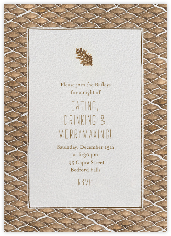 Pine Cones in the Forest - Paperless Post - Online Party Invitations