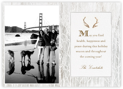 Antlers on the Mantle - Photo - Paperless Post -