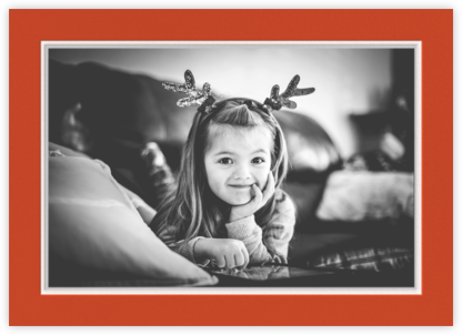 Hampstead Horizontal - Blood Orange/Winter Gray - Paperless Post - Affordable Christmas Cards
