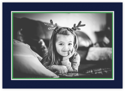 Hampstead Horizontal - Navy and Emerald - Paperless Post -