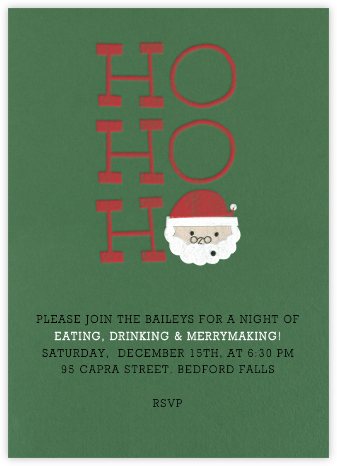 Ho Ho Ho - Paperless Post - Invitations