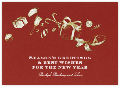 Holiday Treats - Crimson - Paperless Post - Holiday Cards